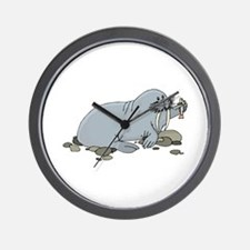 Walrus with Fish Wall Clock