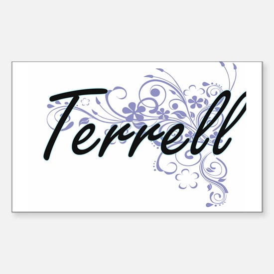 Terrell surname artistic design with Flowe Decal