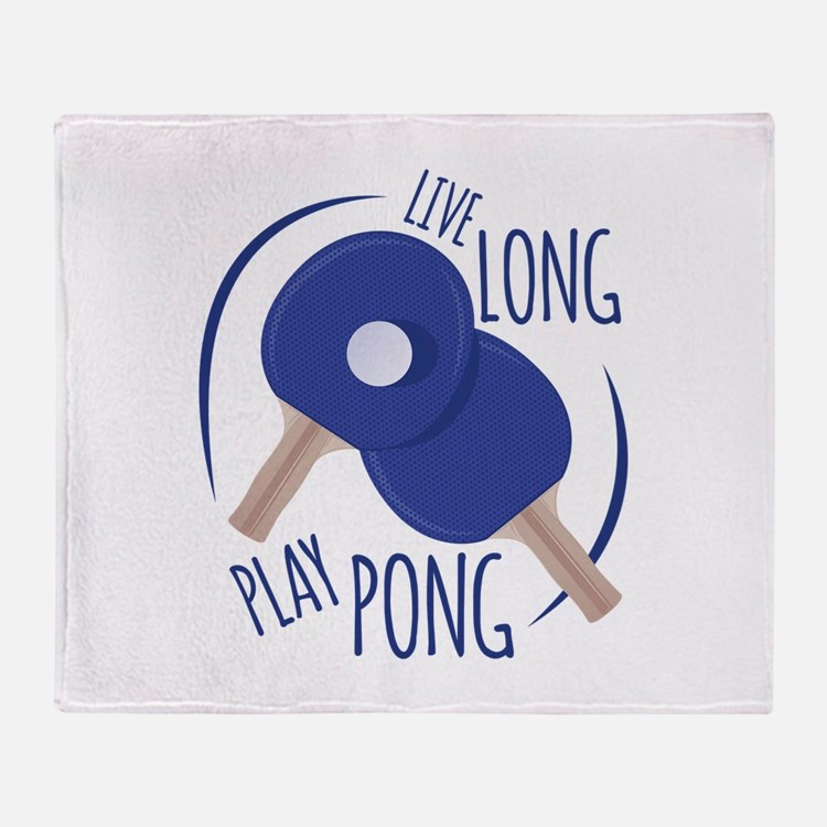 Play Pong Throw Blanket