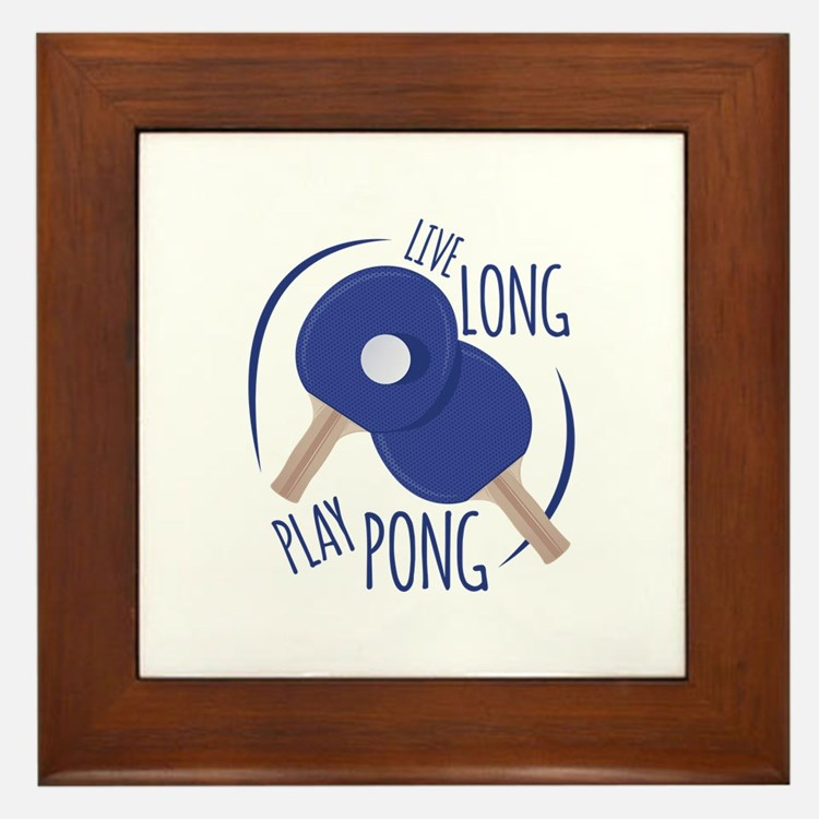 Play Pong Framed Tile