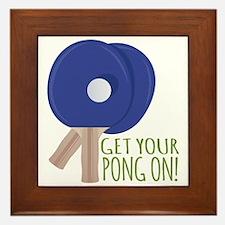 Get Pong On Framed Tile