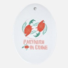 Partners In Crime Oval Ornament
