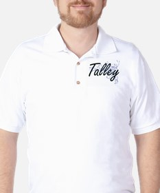 Talley surname artistic design with Flo Golf Shirt