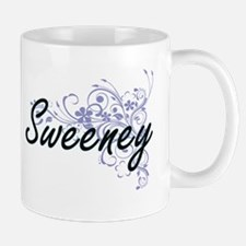 Sweeney surname artistic design with Flowers Mugs
