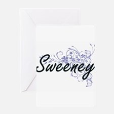 Sweeney surname artistic design wit Greeting Cards