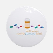 Pharmacy School Round Ornament