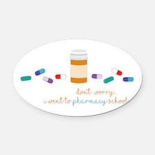Pharmacy School Oval Car Magnet