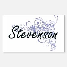 Stevenson surname artistic design with Flo Decal