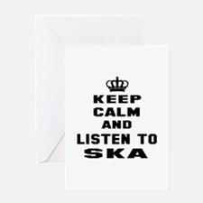 Keep calm and listen to Ska Greeting Card