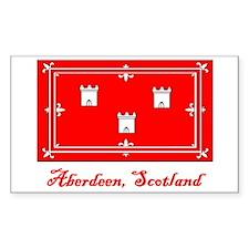 Aberdeen Scotland Flag Rectangle Decal