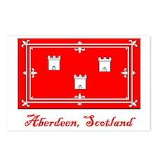 Aberdeen Scotland Flag Postcards (Package of 8)