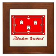Aberdeen Scotland Flag Framed Tile