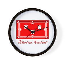 Aberdeen Scotland Flag Wall Clock