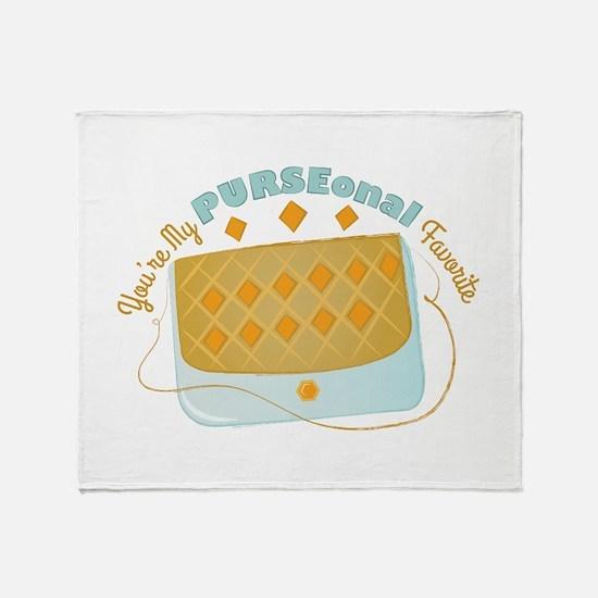 Purseonal Favorite Throw Blanket