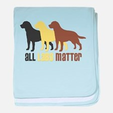 All Labs Matter baby blanket