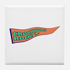 Crockydiles Rock Tile Coaster