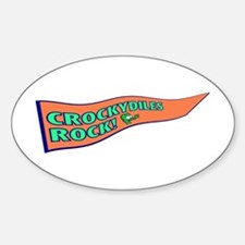 Crockydiles Rock Oval Decal