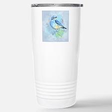 Watercolor Bluebird Blue Bird Art Travel Mug