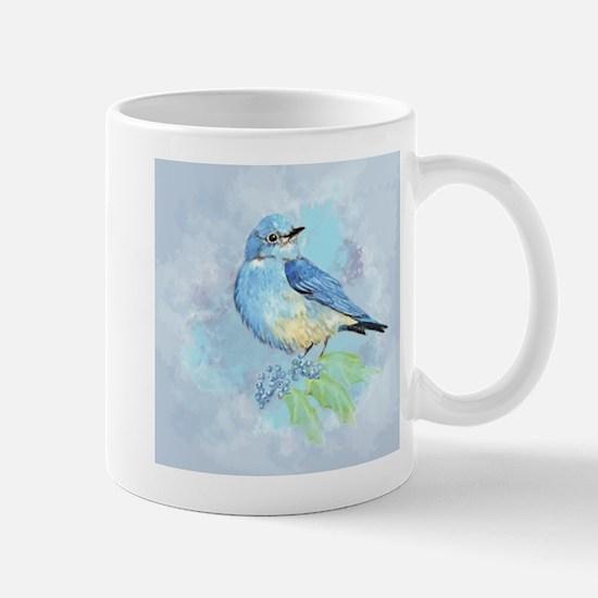 Watercolor Bluebird Blue Bird Art Mugs