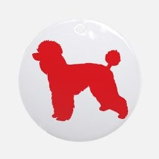 Poodle Red 2 Round Ornament