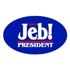 JEB BUSH PRESIDENT 2008 Oval Decal
