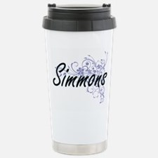 Simmons surname artisti Stainless Steel Travel Mug