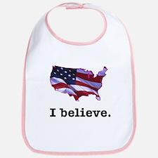 I Believe in America Bib