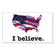 I Believe in America Rectangle Decal