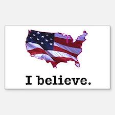 I Believe in America Rectangle Decal