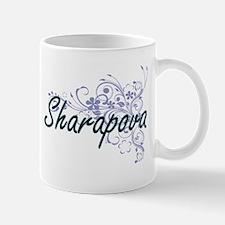 Sharapova surname artistic design with Flower Mugs