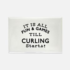 Curling Fun And Games Designs Rectangle Magnet