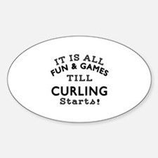 Curling Fun And Games Designs Decal