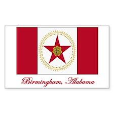 Birmingham AL Flag Rectangle Bumper Stickers