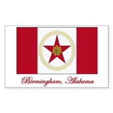Birmingham AL Flag Rectangle Decal