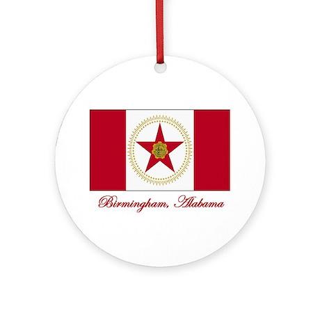Birmingham AL Flag Ornament (Round)
