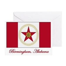 Birmingham AL Flag Greeting Card