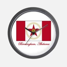 Birmingham AL Flag Wall Clock