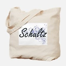Schultz surname artistic design with Flow Tote Bag