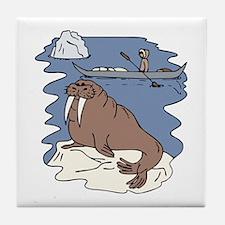 Walrus and Eskimo Tile Coaster
