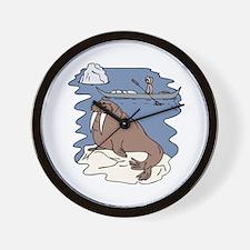 Walrus and Eskimo Wall Clock