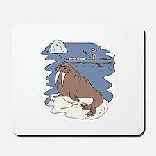 Walrus and Eskimo Mousepad