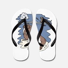 Walrus and Eskimo Flip Flops