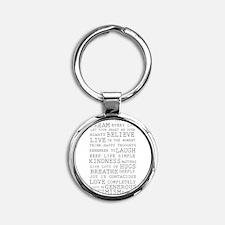 Funny Love Round Keychain
