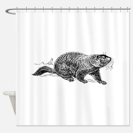 Ground hog Shower Curtain