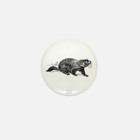 Ground hog Mini Button