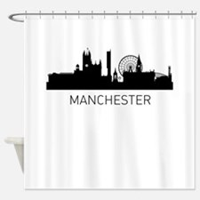 Manchester England Cityscape Shower Curtain