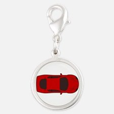 Red racing car top view Charms