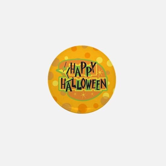Cool Retro Vintage Happy Halloween Mini Button