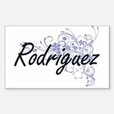 Rodriguez surname artistic design with Flo Decal