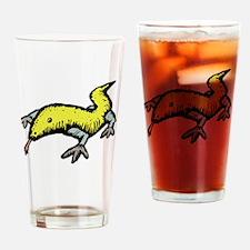 Lizard cartoon Drinking Glass